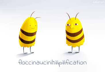 Floccinaucinihilipilification - Lame Selfie Bee by Proxentauri