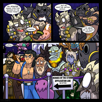 Alienhominid2000 Commission - Heroes of the Queue by MichaelJLarson