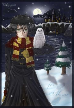 wintertime at hogwarts by geta-chan