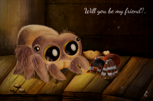 A New Friend [Lucas the Spider] by Woolfkas