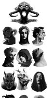 Warm ups 05 - Daedric Princes by coupleofkooks