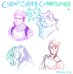 Cheap Sketch Commissions! OPEN! by Aibyou