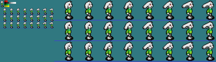 Undertale Asriel SNES Style by Thanatos-Zero