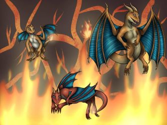 Fire Starter Kanto Dragons by Icedragon300