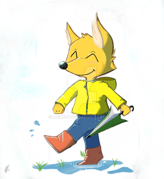 cheerful rain by MeikDraws