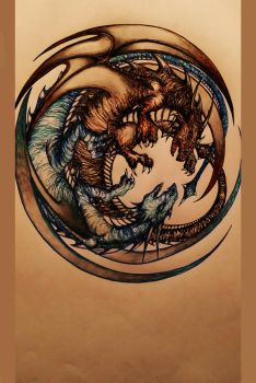 Circle of Dragons by Siamone