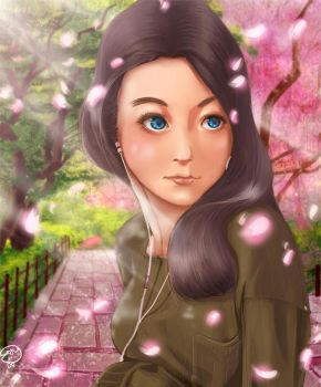 Cherry Blossoms in May by Kontoraktora