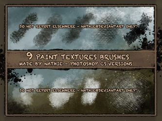 Paint Structure Brushes by nathies-stock