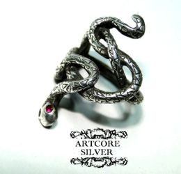 Snake ring by ARTCORE-SILVER