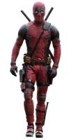 Deadpool (walking) - Transparent! by Camo-Flauge