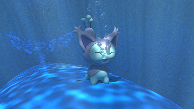 Skitty on Wailord underwater by kuby64