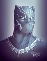 Black Panther Potrait by kpetchock
