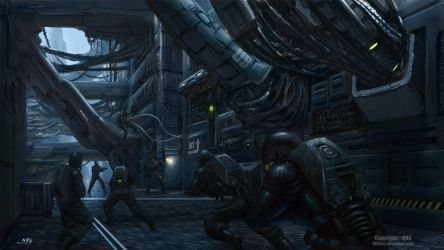 3DP-Running trough the Sci-FiCity Corridors by NRG by NRGart7