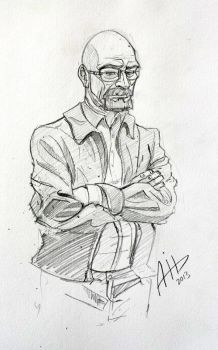 Walter White - Breaking Bad - Sketch by AmyVsTheWorld