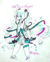 INKTOBER DAY #6 - Magical Mirai by Justine-Linfeh