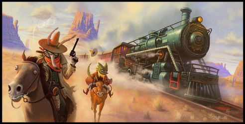 The Train Heist by petura