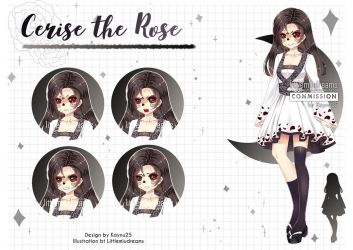 Commission VN - Cerise the Rose by kawaiimiu