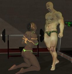 Gym Captive 2 by cattle6