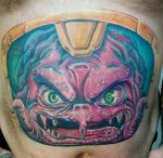 'Krang' belly tattoo by catbones