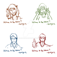 Welcome to the Team Sketches by kmccaigue