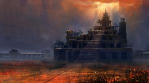 Speed Painting- 9 Mandir by surendrarajawat