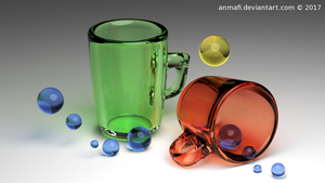 -Abstract Glass Composition- by anmafi