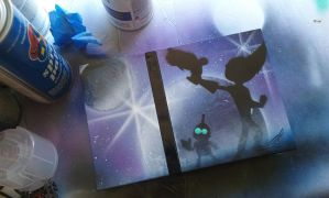 Ratchet and clank fan art on a PS2. by DEATHBYDAYDREAMS