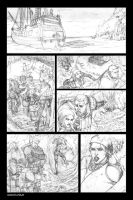 Dragon Age Samples page 1 pencils by Ignifero