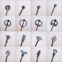 Hair pin designs by Astalo