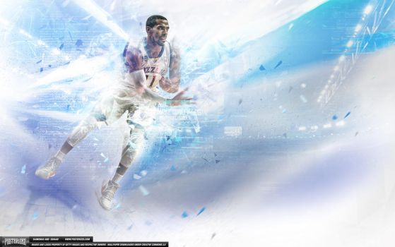 Mike Conley Glitch Wallpaper by IshaanMishra