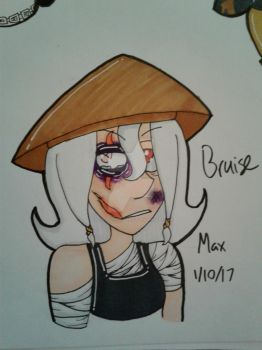 GORETOBER 2017 DAY 1 - BRUISE by TheColorfulGeek123