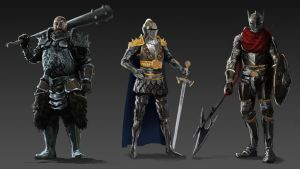 Medieval character designs by fabianrensch