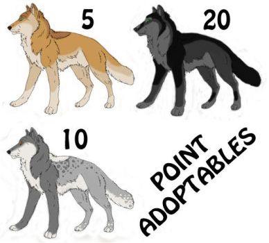 Wolf Point Adoptables by Mandy31492