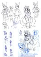 Sketches by Benjamin-the-Fox