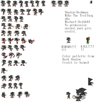Dark Mike sprites sheet by Phantom644