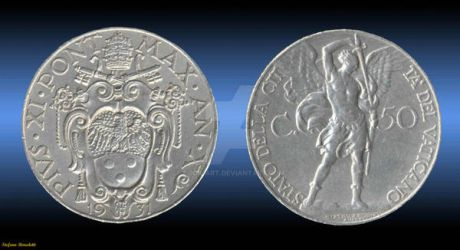 Coin 50 Cents 1931 - (Vatican) by Book-Art
