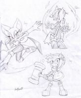 Girls sketches by Auroblaze
