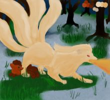 Ninetails The Protector by SunsetFlareX