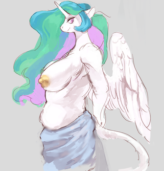 celestia sketch by jupiter-ponies