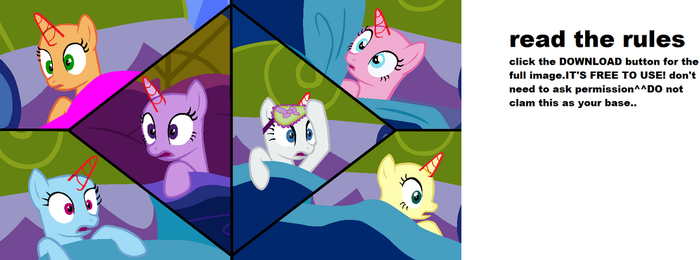 Mlp Main Cast Looking Frightened Base By Cookiechans2 On: Explore