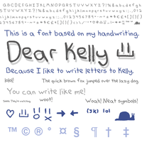 Font - Dear Kelly by skeddles