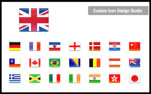 All-in-One Country Flag Icon by customicondesign