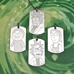 Rick and Morty Pendants by SilverSlinger