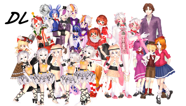 MMD X FNAF SL MODELS DL!!! by Ni-chyP