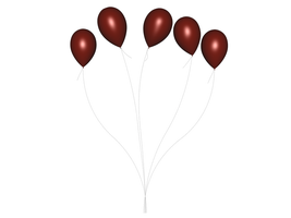STOCK PNG red balloon 3 by MaureenOlder