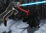 Kylo Ren and Rey by Ann-Pa