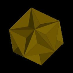 Rotating Great Dodecahedron by PomPrint