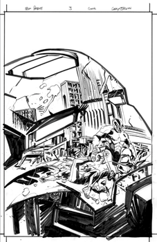 Inks for cover 3 of Iron Patriot by thisismyboomstick