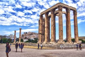 Temple of Olympian Zeus by wayleri