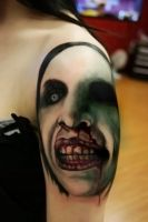 Marilyn Manson tattoo by filthmg